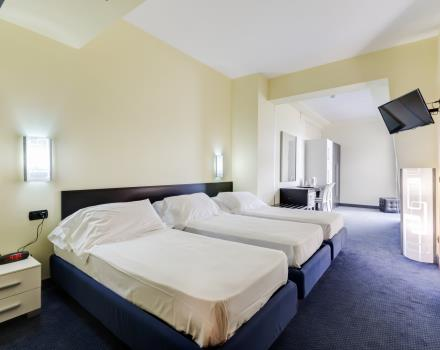The triple rooms of the Best Western Hotel Class for families and groups